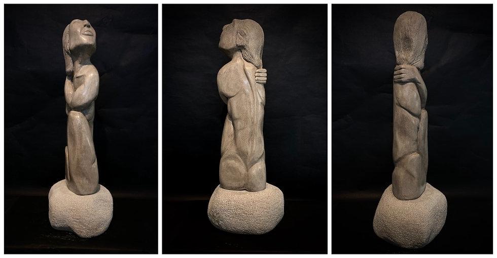 """JAZZ SINGER   Indiana Limestone   34""""H x 15""""W x 14""""D"""
