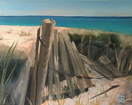 Sand Fence   Oil   11 x 14