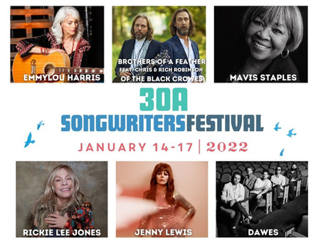 2022 30A Songwriters Festival Headliners Announcement