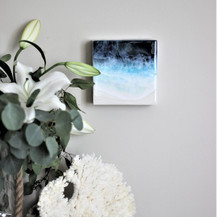 Emerald Coast I | Resin & Mixed Media | 6 x 6