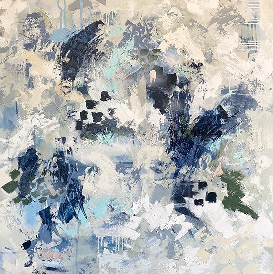 Ashton II | Acrylic & Spray Paint | 30 x 30