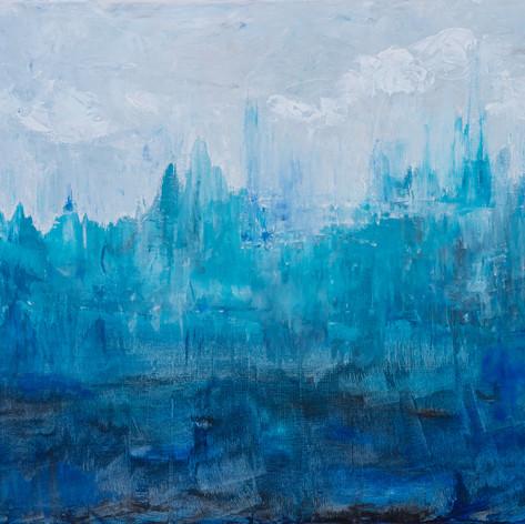 Blues Your Imagination | Acrylic | 24 x 36