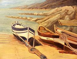 Three Boats   Oil   16 x 20