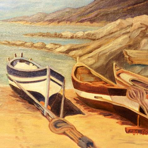 Three Boats | Oil | 16 x 20