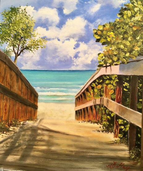Beach Walkover   Oil   24 x 18