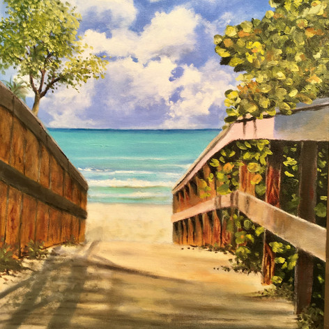 Beach Walkover | Oil | 24 x 18