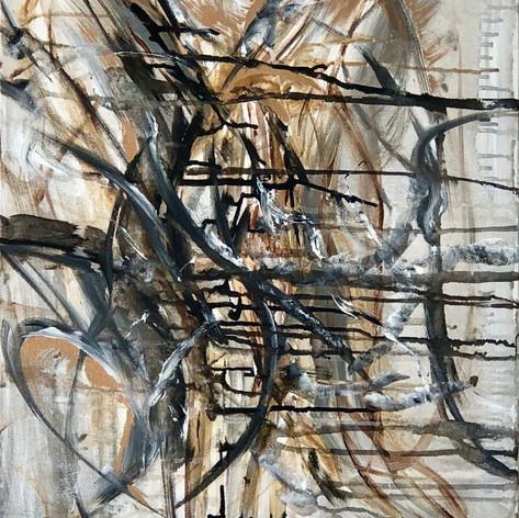 Draw The Line   Acrylic   18 x 24