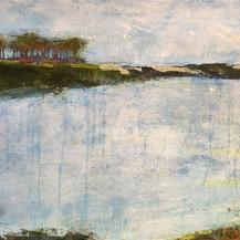 Western Lake   Cold Wax & Oil   40 x 30