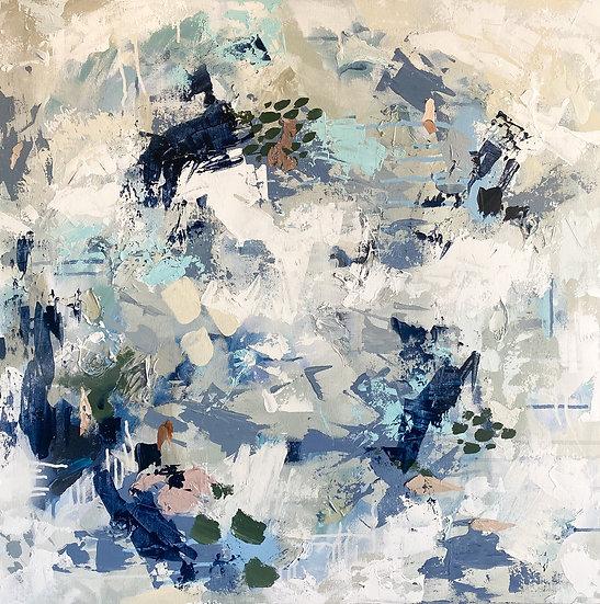 Ashton I | Acrylic & Spray Paint | 30 x 30