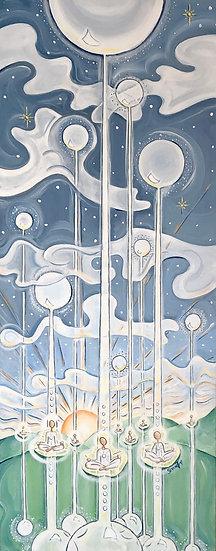 Divine Intelligence | Acrylic | 16 x 40