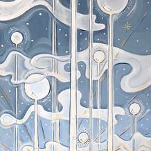 Divine Intelligence   Acrylic   16 x 40