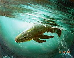 Breaching Whale   Oil   16 x 20