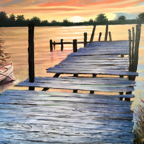 Dock on the Bay | Oil  | 24 x 30