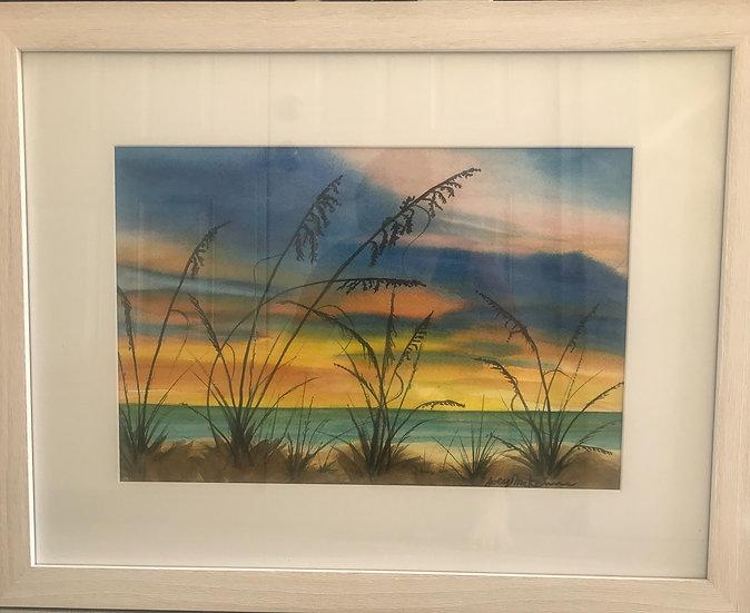 A Sunset Palette   Watercolor   20 x 26
