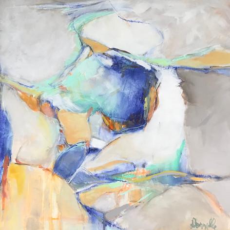 Abstract #22   Acrylic Mixed Media   18 x 18