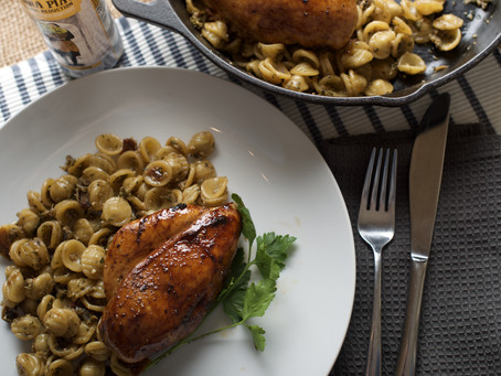 Recipe: Tiberino Orecchiette with Balsamic Glazed Chicken