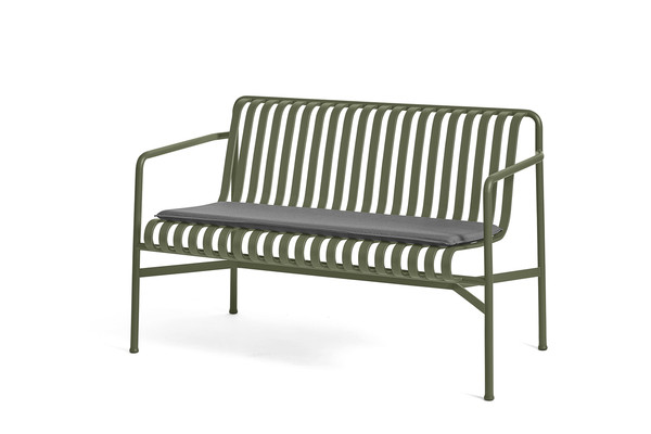 PALISSADE DINING BENCH SEAT CUSHION ANTHRACITE_PALISSADE DINING BENCH OLIVE