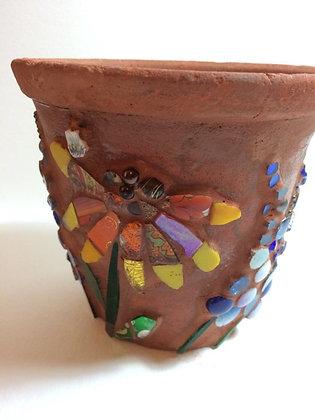 Terracotta Flower Pot - Rudbekia & Delphiniums