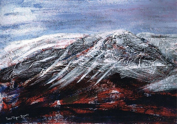 Black Mountains with Snow