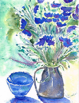 Still Life with Cornflowers
