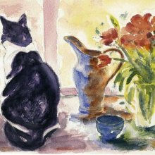 Black__White_Cat_with_Tulips_thumb.jpg