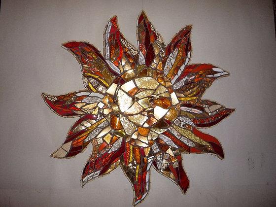 Golden Sun Wall Mosaic