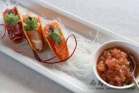 Assorted Sashimi Taco