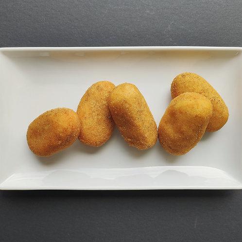 Croquetas de Hongos y Cebolla Caramelizada