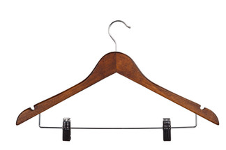 Enso Wooden Hanger with Bar & Clip