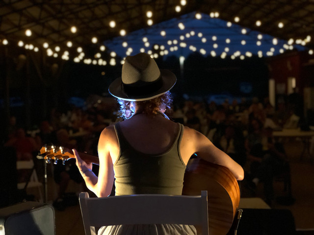 Andrea Van Allen  Performing at Foxfire Ranch, Photo by Hollie Janelle