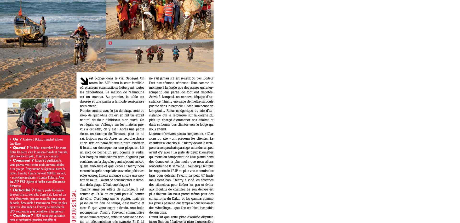 Rando Senegal avec Enduro Magazine
