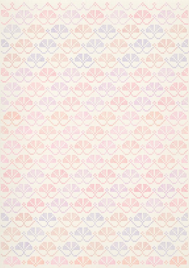 Flower Field Ⅰ, 2019-19. Pencils on paper, 102 × 72 cm