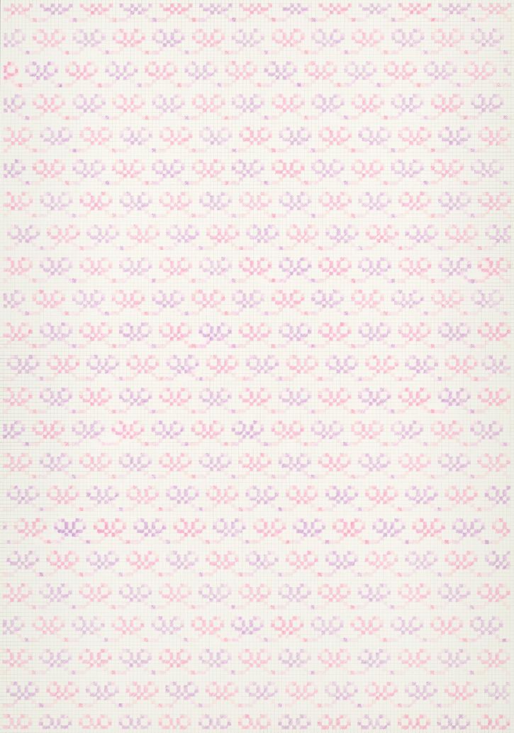Flower Field XⅠ, 2018-19. Pencils on paper, 102 × 72 cm