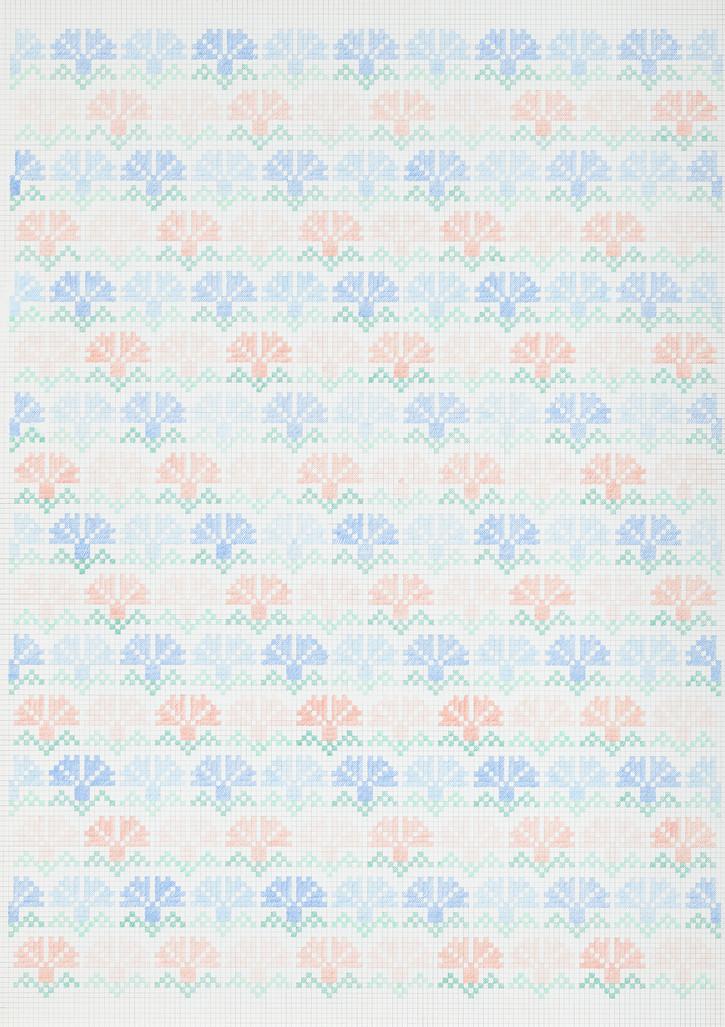 Flower Field XIV, 2019. Pencils on paper, 102 × 72 cm