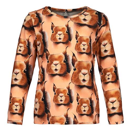 Squirrel T-shirt LS, cashew