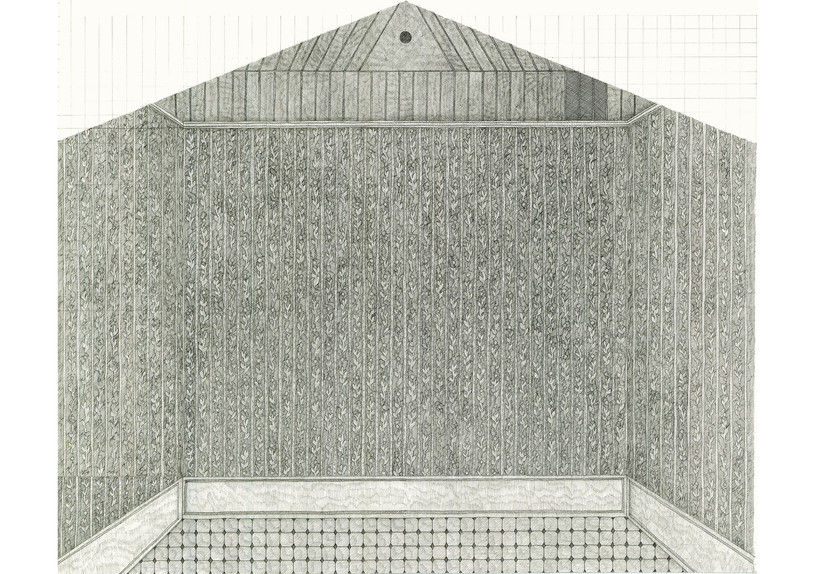 Empty Room (Dreaming House), 2015. Ink pen and pencil on paper, 41.5 × 50.5 cm