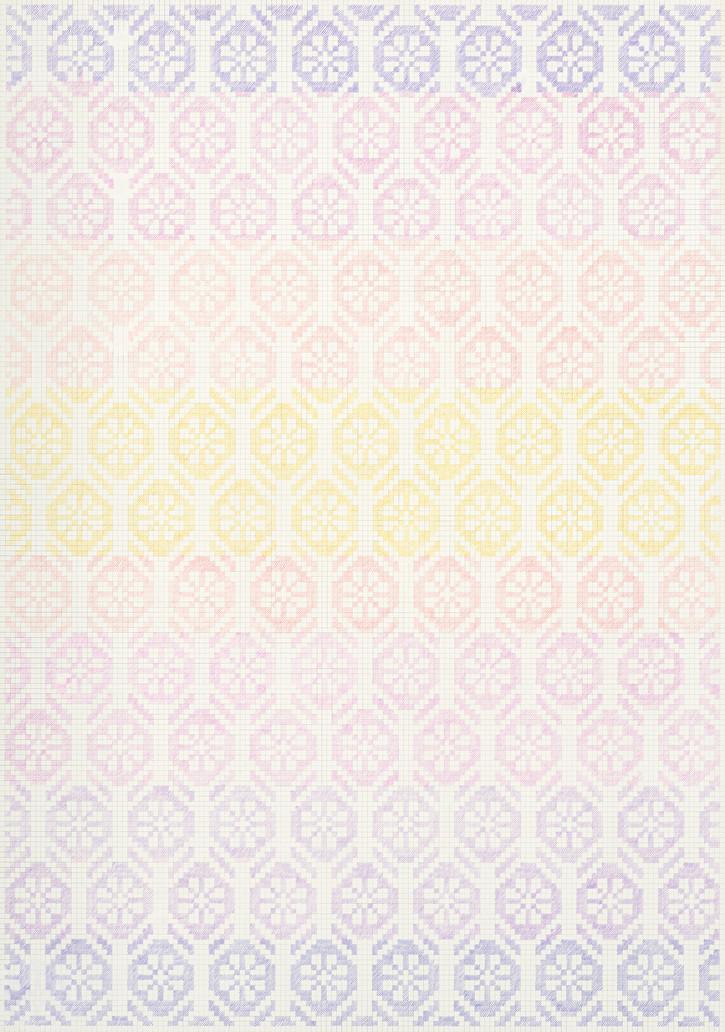 Flower Field XVII, 2020. Pencils on paper, 102 × 72 cm