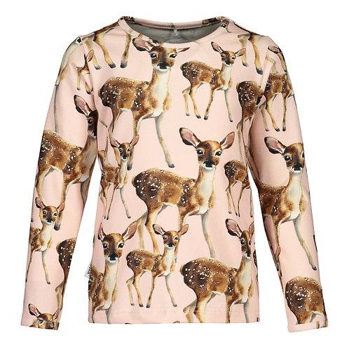 Bambi T-shirt LS, pink salt
