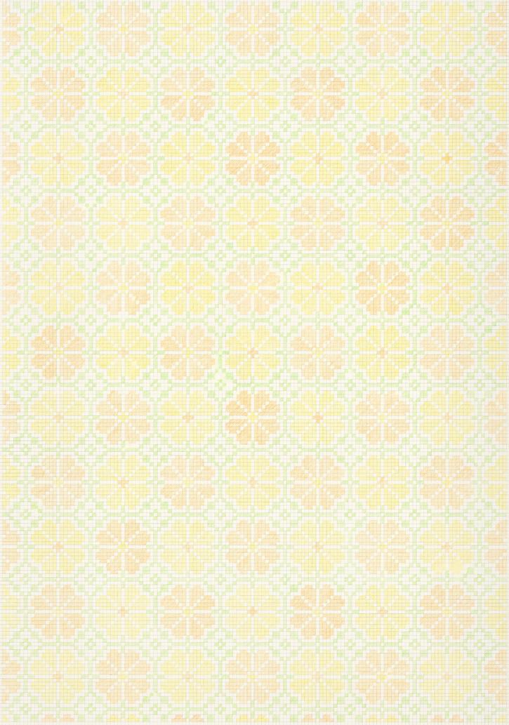 Flower Field Ⅱ, 2018-19. Pencils on paper, 102 × 72 cm