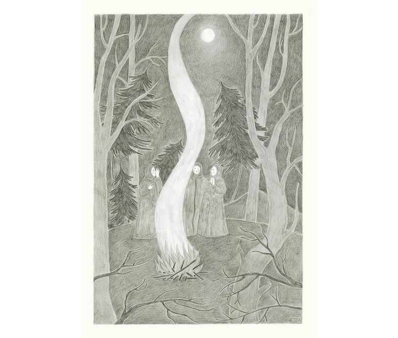 Smoke, 2013. Pencils on paper, 59.4 × 42 cm