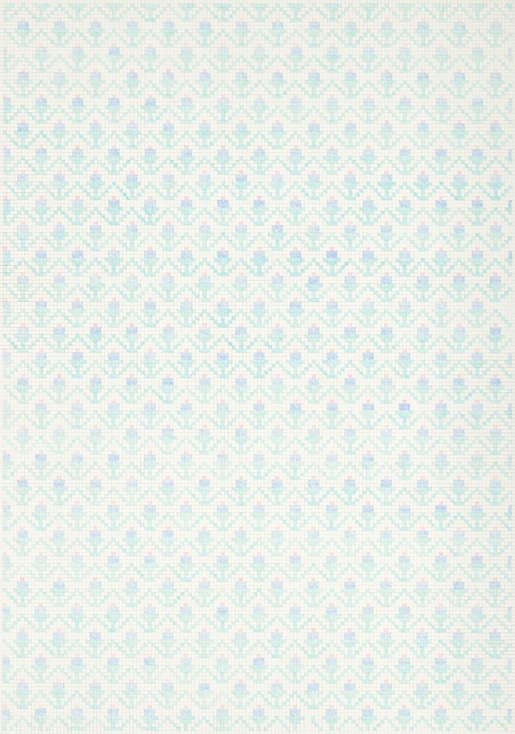 Flower Field XIII, 2020. Pencils on paper, 102 × 72 cm