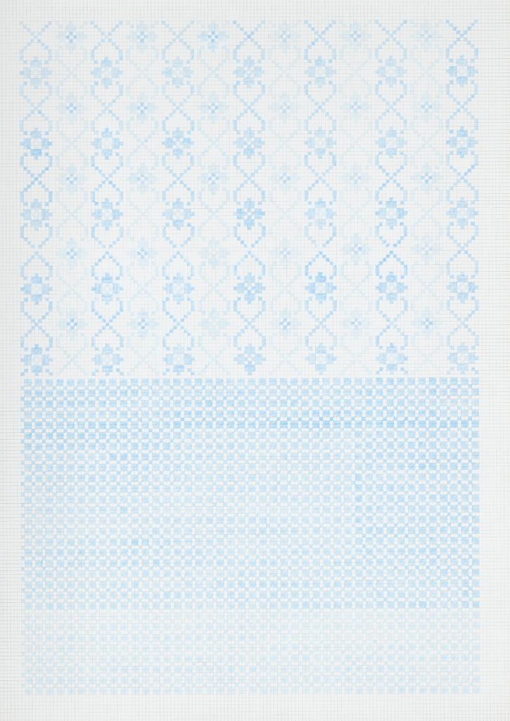 Flower Field XV, 2020. Pencils on paper, 102 × 72 cm