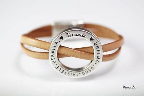 Vernada® Design -nahkaranneke, nude, magneettilukko