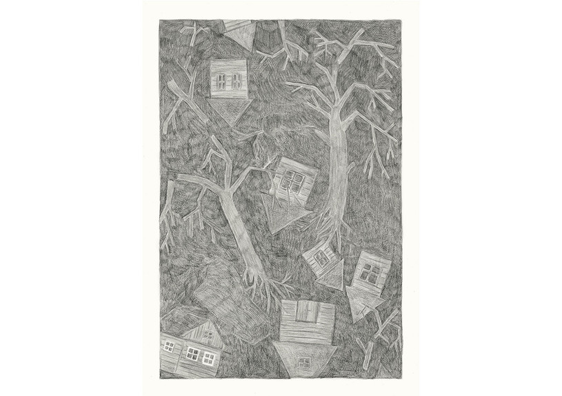 Storm, 2013. Pencils on paper, 59.4 × 42 cm