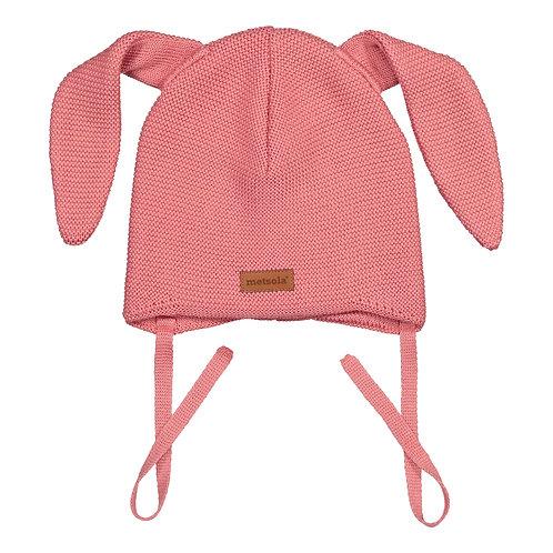 Merinowool Baby Beanie Bunny, Strawberry ice