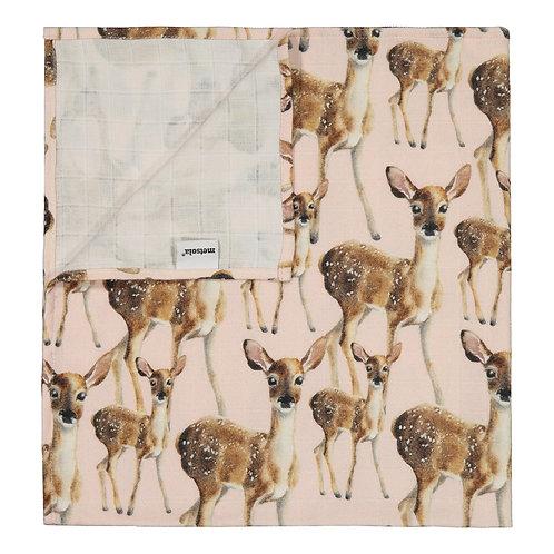 Bambi Muslin Cloth, pink salt
