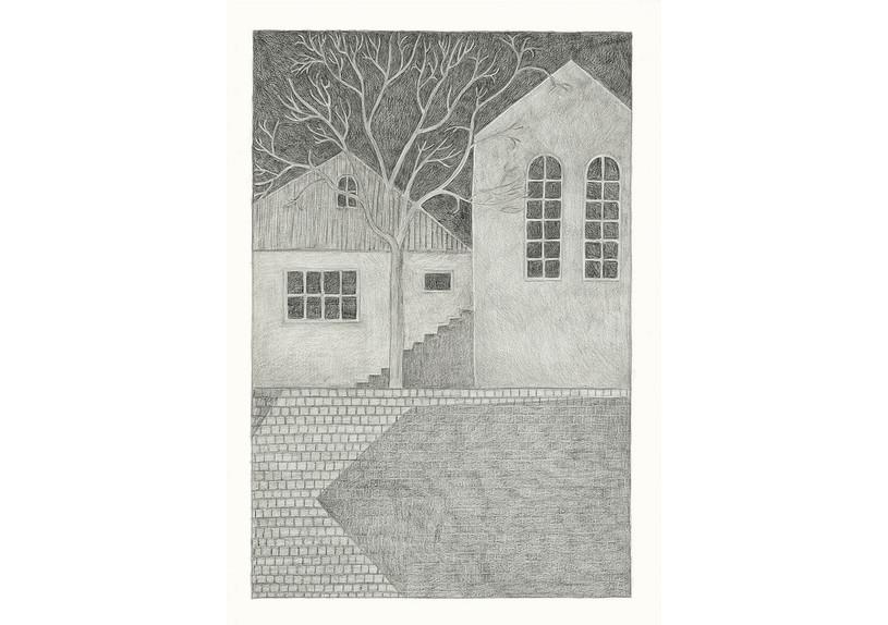 Seven, 2013. Pencils on paper, 59.4 × 42 cm