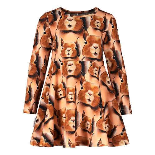 Squirrel Dress, cashew