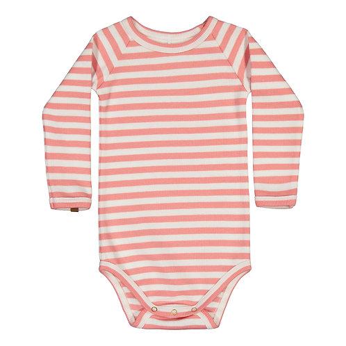 Striped RIB Body, strawberry-white