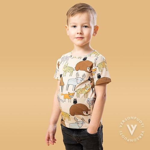 MUKAVA T-paita, tyypit trikoo (Verson Puoti)
